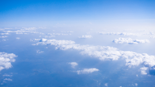 beautiful, cloud., , clouds, from, airplane - 19346886