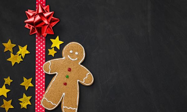 gingerbread male on slate