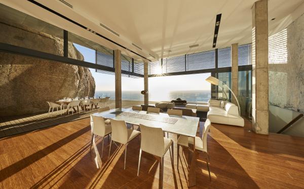 sun shining in modern luxury home