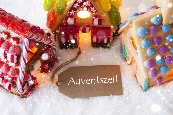 colorful gingerbread house snowflakes