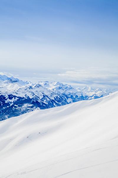 beautiful mountain landscape winter mountains