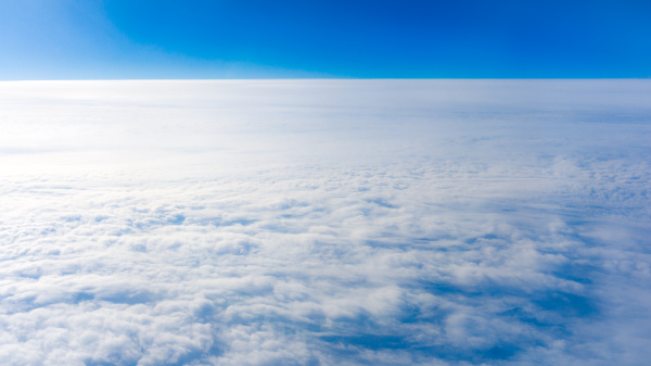 clouds from airplane window height of