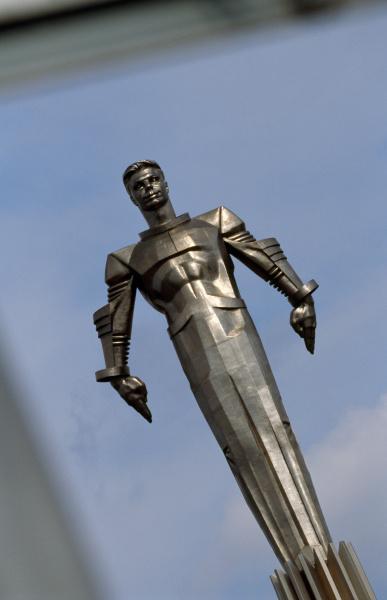 statue of cosmonaut yuri gagarin