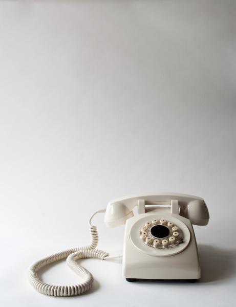 white telephone studio shot