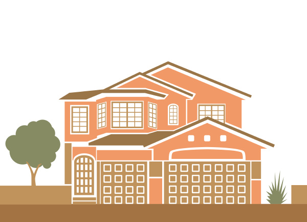 simple family house vector illustration clip