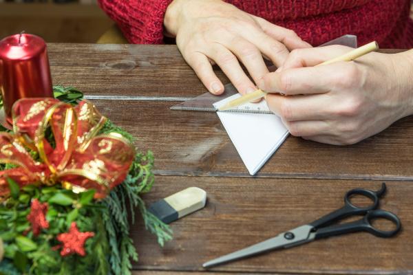 handmade female is working