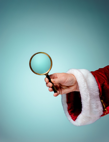 photo of santa claus hand with