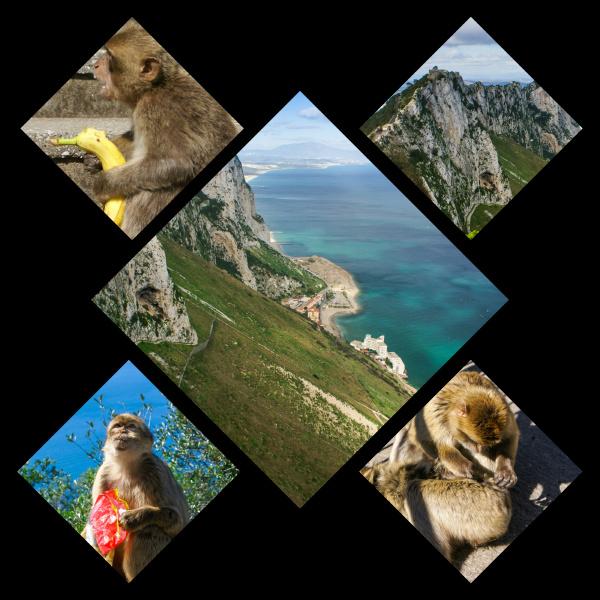 collage of gibraltar my photos