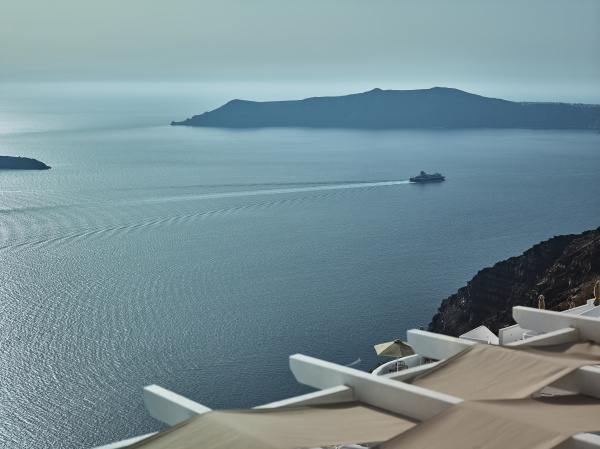 landscape of santorini island fira cyclades