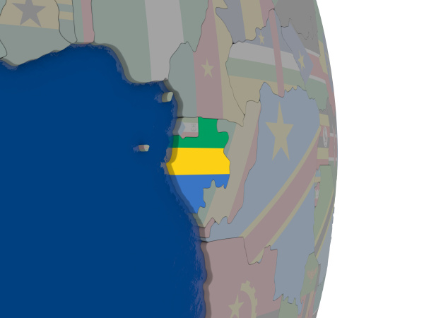 gabon with its flag