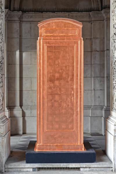 copper telephone box