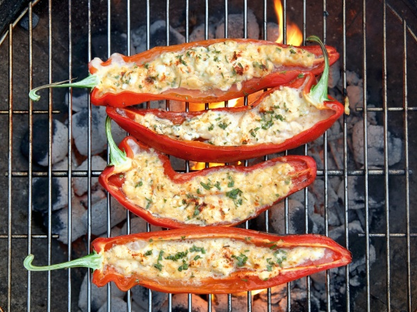 grilled red peppers with sheep s