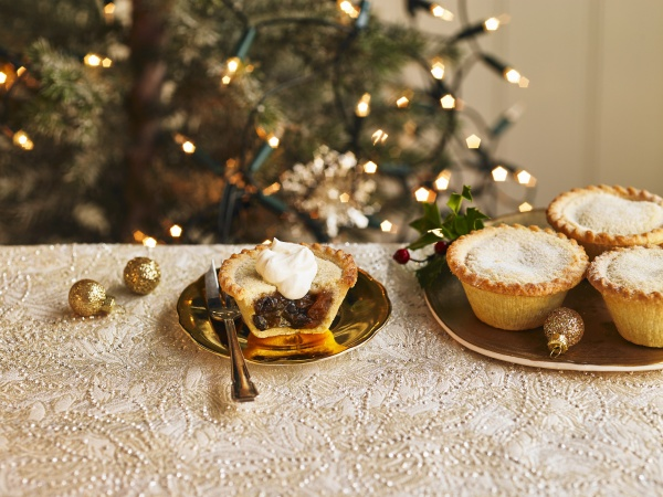 a plate of filled mince pies