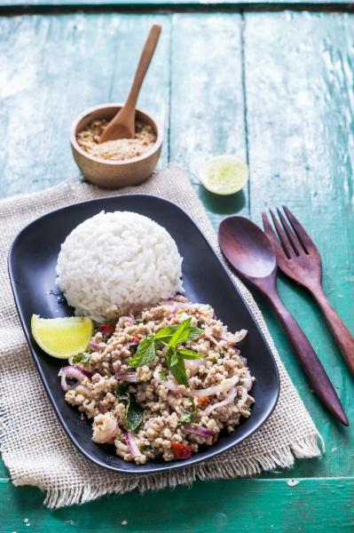 laab moo mince salad thailand