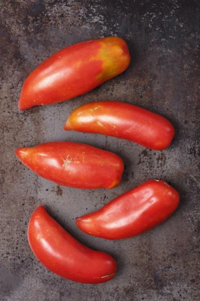 five organic bulls horn tomatoes