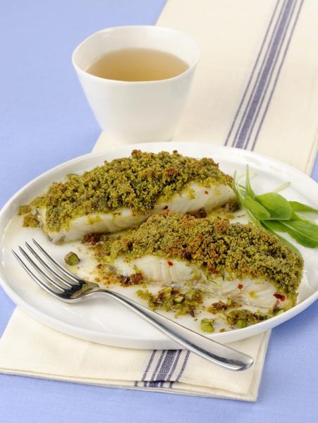 baccalao al pistacchio stock fish