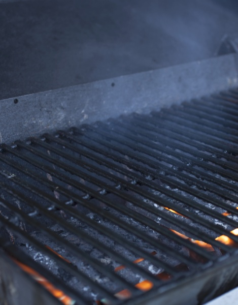 a cooking grid over a smoking