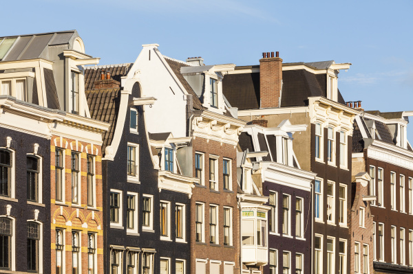 netherlands amsterdam row of