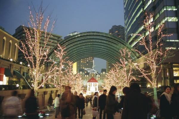 christmas illuminations ebisu tokyo japan