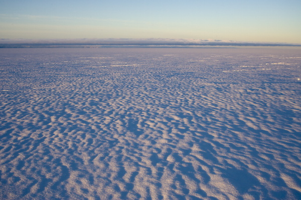 inland icecap on expedition greenland