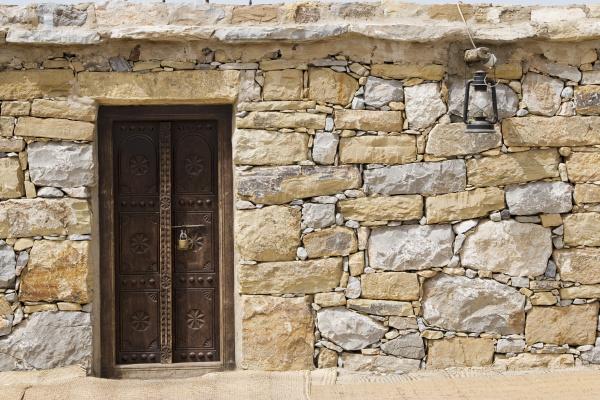 dubai uae detail of stone huts