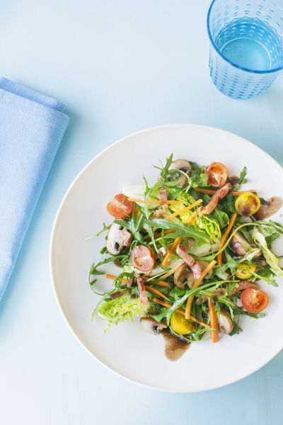 provencal salad with mushrooms