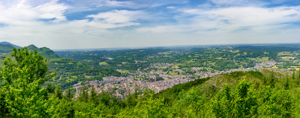 panorama of the city of lourdes