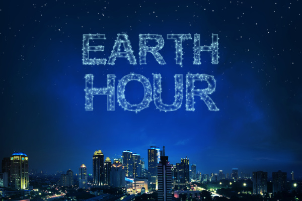 earth hour greeting from light the