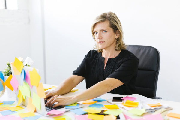 portrait of mature woman at office