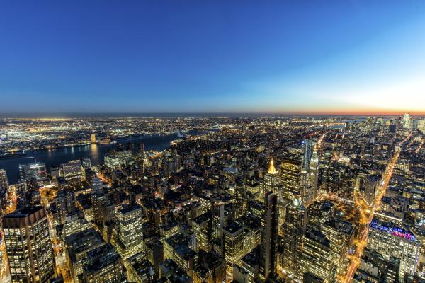 usa new york city cityscape at