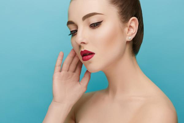 beautiful woman face perfect makeup