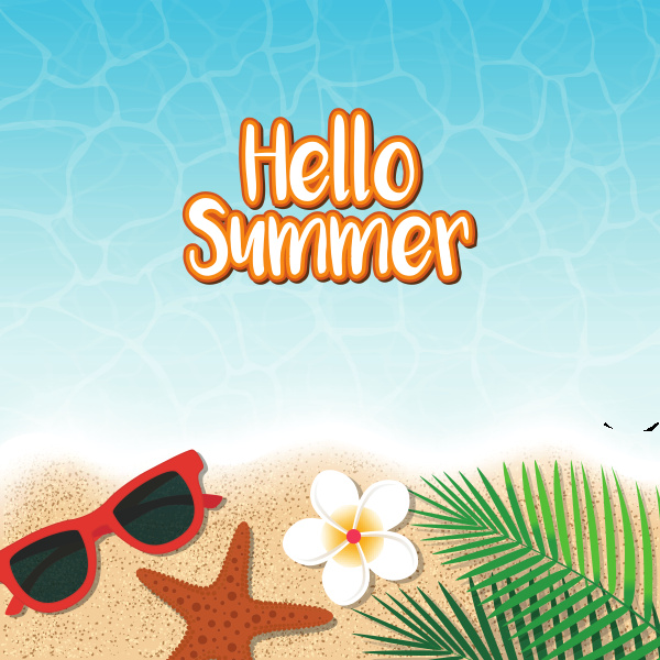 hello summer holiday background top