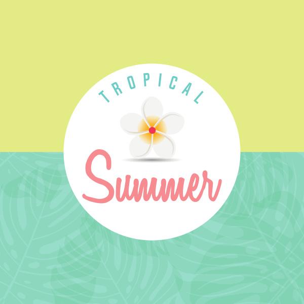 trendy summer tropical leaves summer