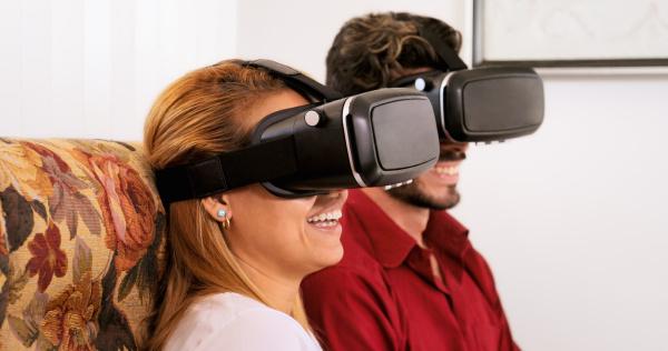 husband wife man woman playing virtual