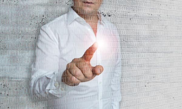 matrix and businessman concept template