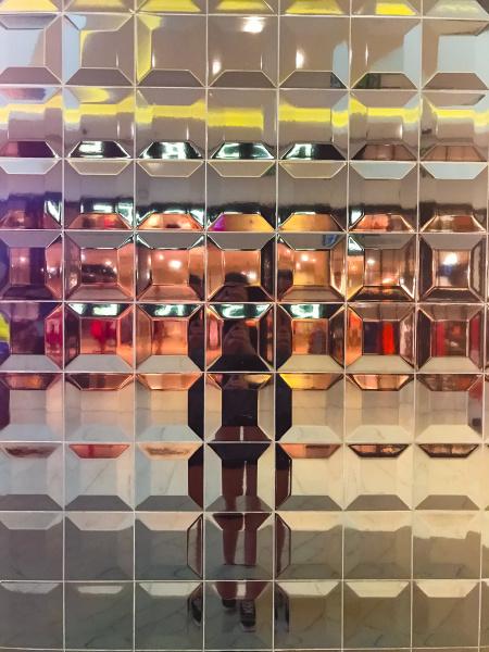 distortion reflection in shop window
