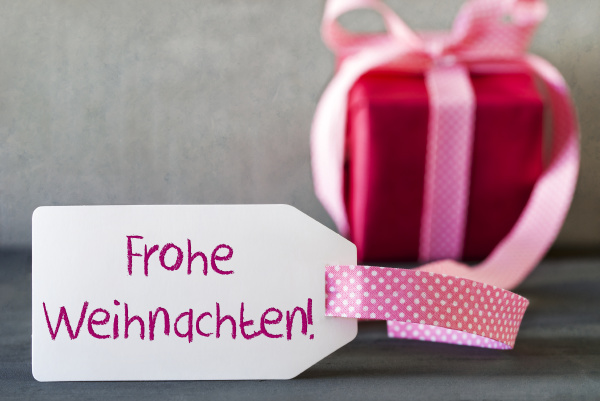 pink gift label frohe