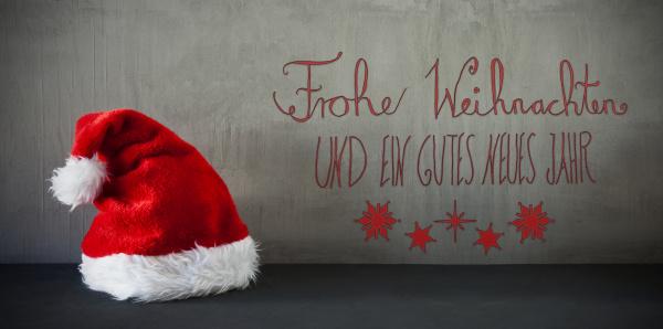 santa hat calligraphy frohe weihnachten