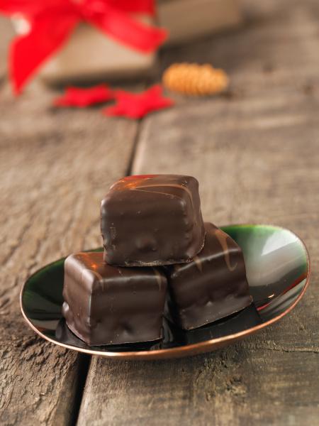 tasty christmas chocolate dices