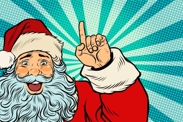 santa claus christmas character shows up