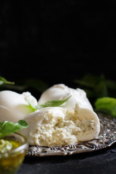 italian mozzarella cheese stuffed with ricotta