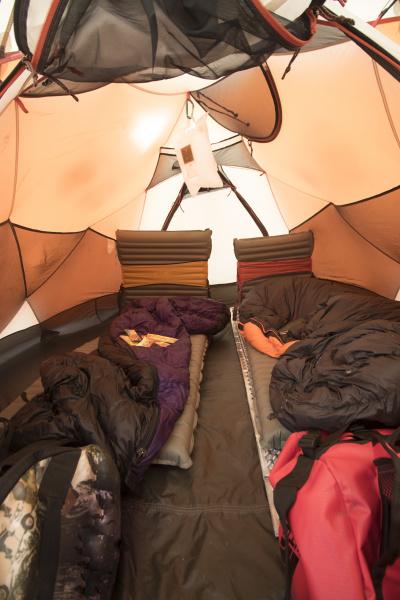 a comfortable tent setup makes all