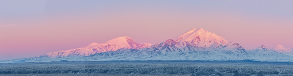 panoramic view of the wrangell mountains