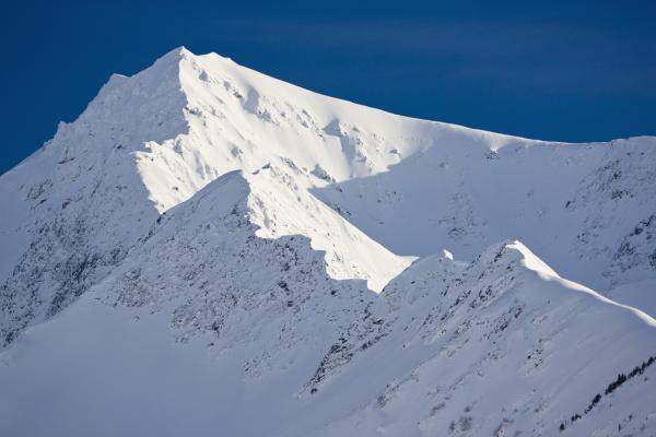 snow covered mountain detail kenai