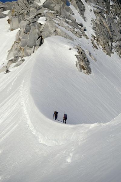 climbers on ridge to summit pika