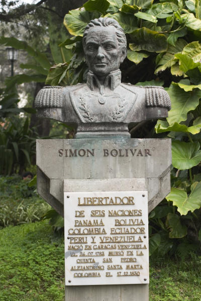 buste by simon bolivar in the