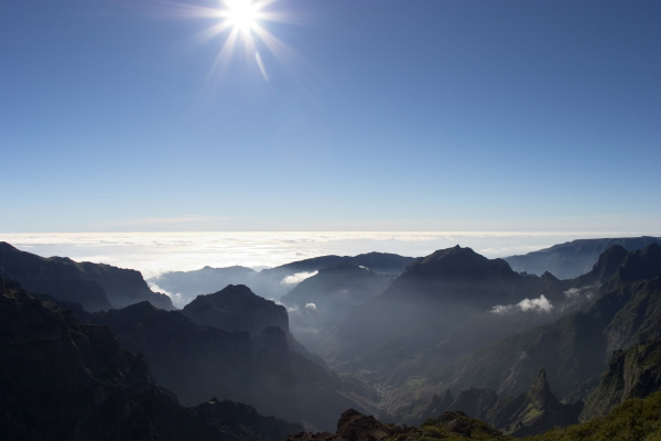 view from pico ruivo