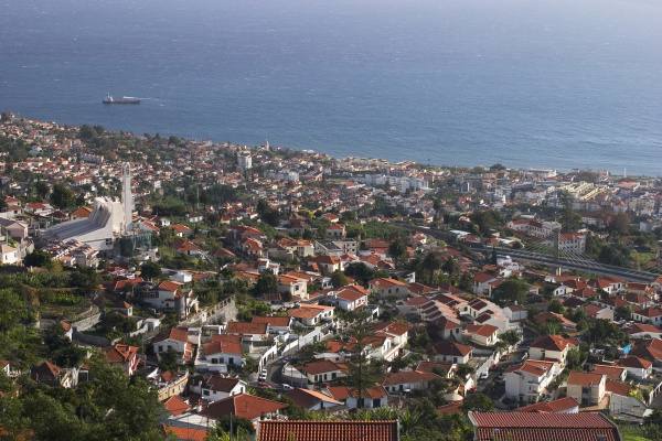 view from monte over funchal