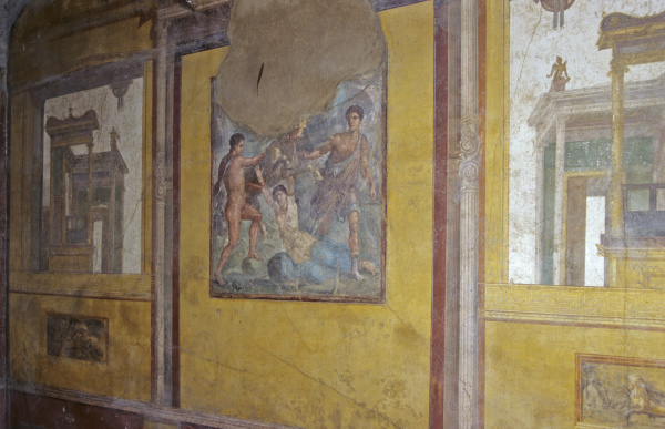 ancient mural in the house of