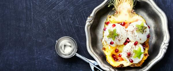 ice cream pineapple vanilla